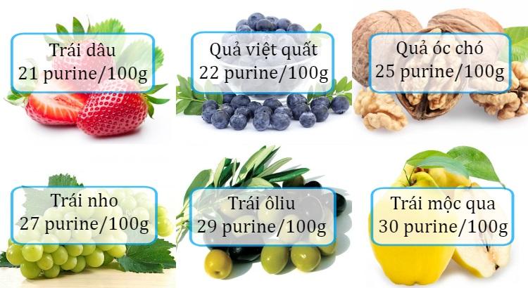 Bệnh gout nên ăn loại trái cây nào?